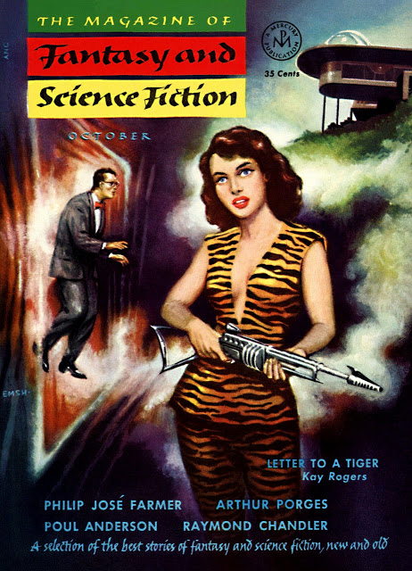 1953-10 The Magazine Of Fantasy And Science Fiction by Ed Emshwiller